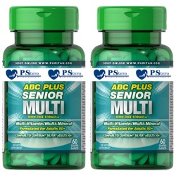 ABC PLUS SENIOR MULTIVITAMINAS Y MINERALES 2 x 60 cápsulas. Puritan's Pride