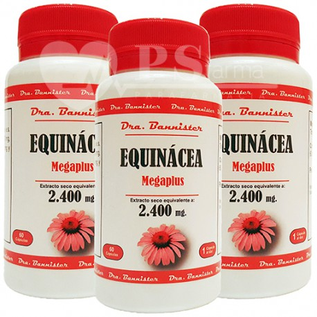EQUINACEA/ECHINACEA 2.400 mg. 3 x 60 cáps. Dra. BANNISTER